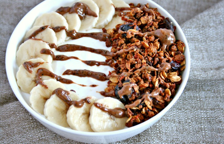 Carrot Cake Granola Yogurt Bowl