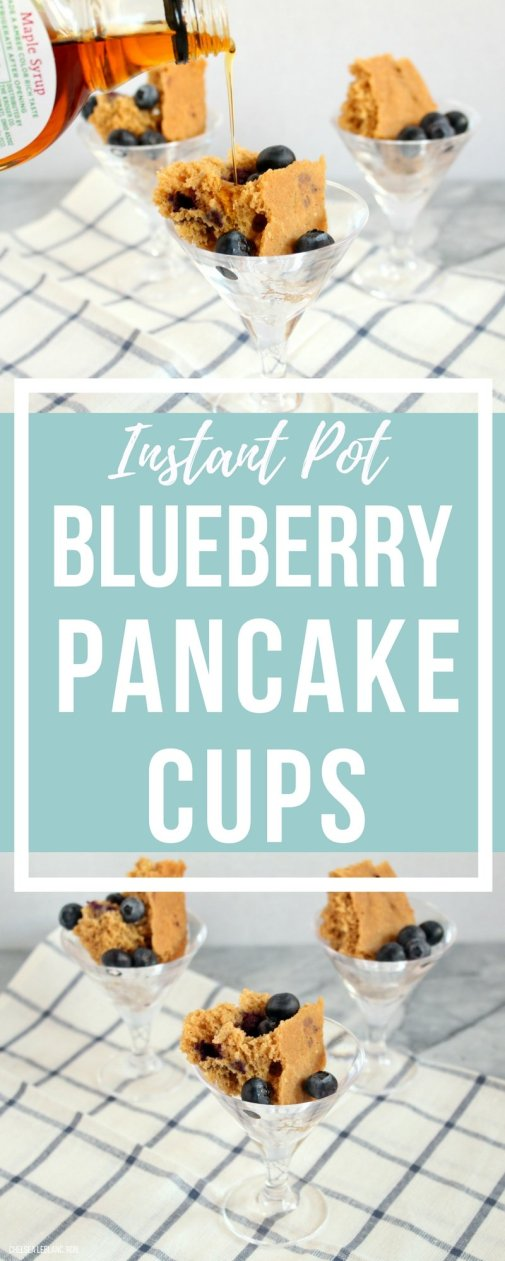 Instant Pot Blueberry Pancake Cups are the perfect breakfast or brunch treat. Made with better for you ingredients, these pretty little cups not only look and taste good, but they're also good for you! #thereciperedux