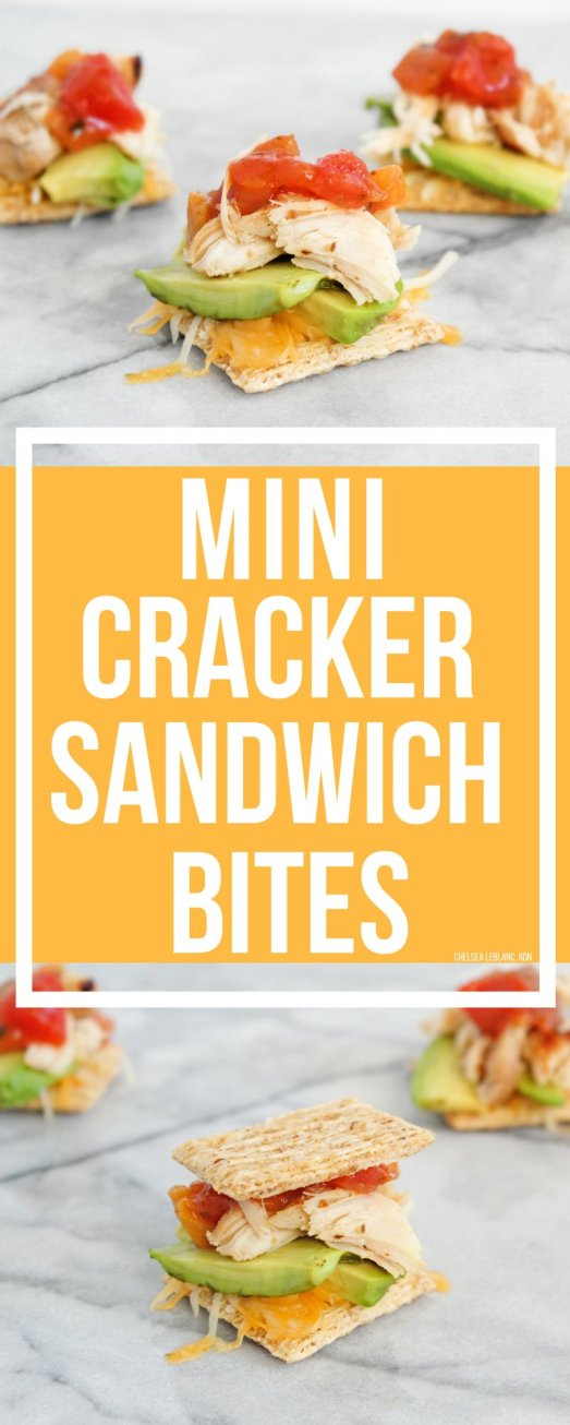 Say hello to your new favorite appetizer, snack, or lunch idea. In less than 10 minutes, these 5 ingredient mini cracker sandwich bites can be yours.