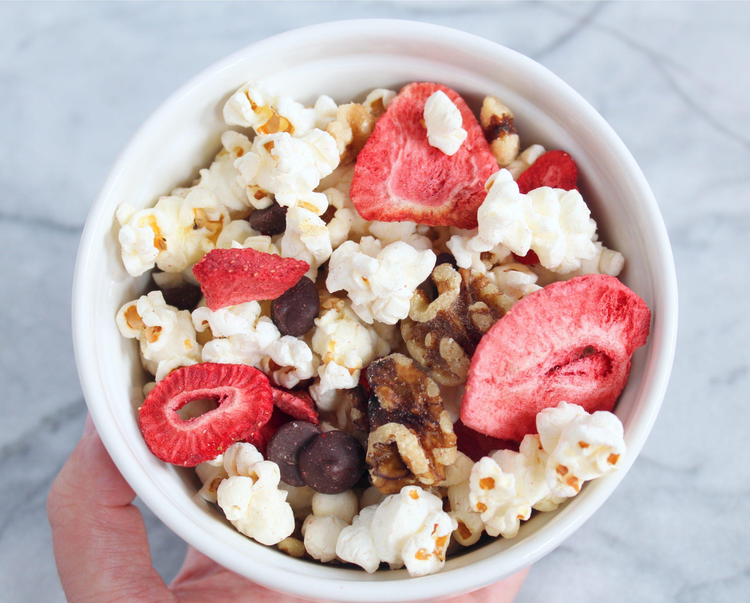Healthy Popcorn Trail Mix - Chelsea LeBlanc Nutrition