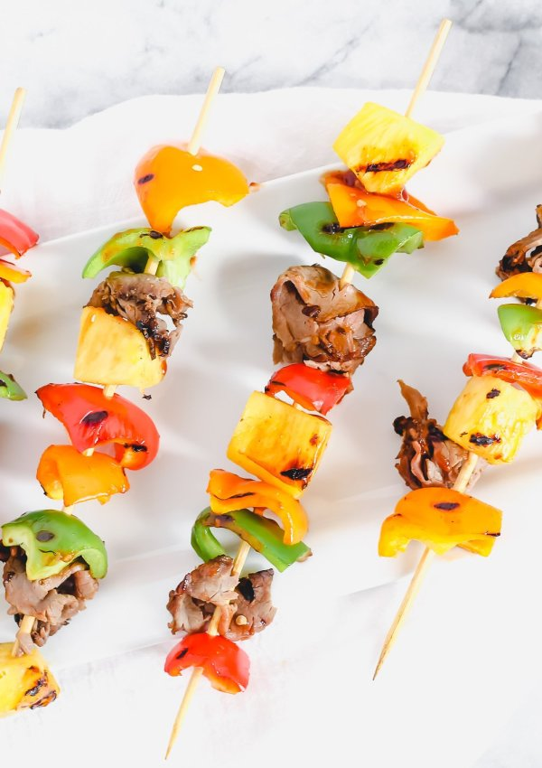 Grilled Hawaiian Roast Beef Kabobs
