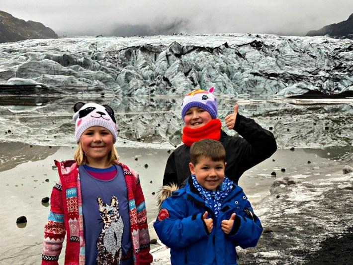Kids-at-Sólheimajökull