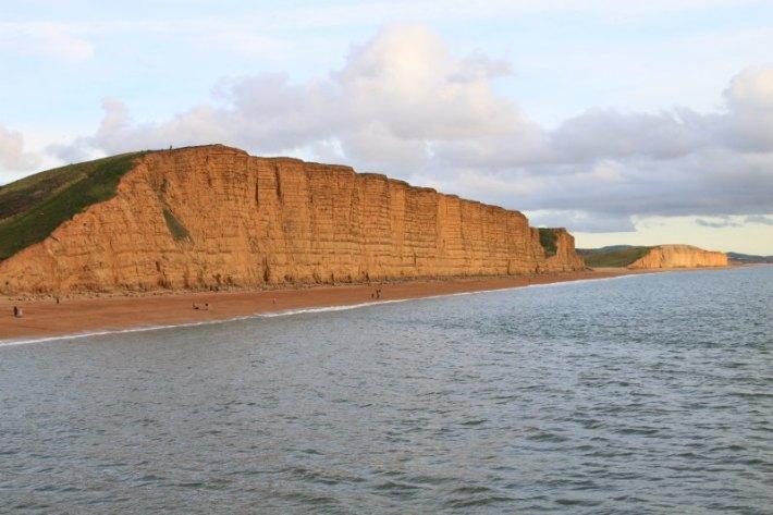 Sandstone cliffs west bay