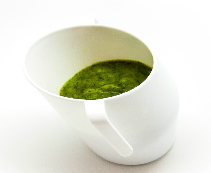 green soup in cup