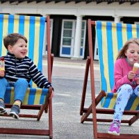Deckchairs at Sandbanks