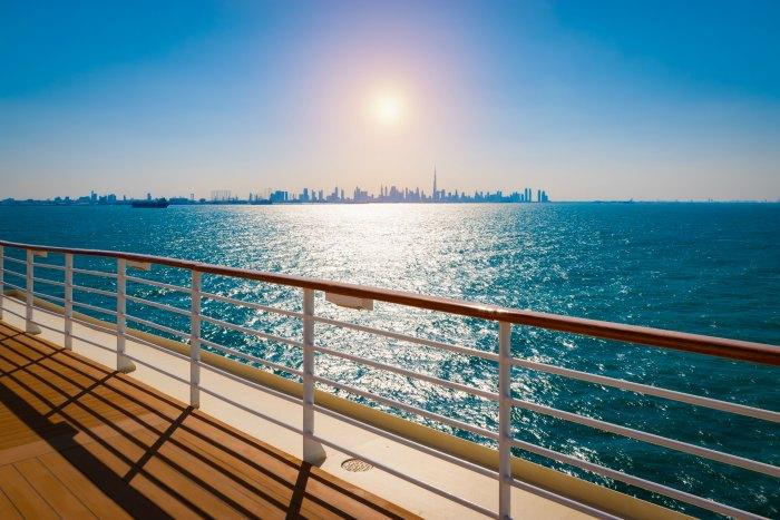 Dubai from a Cruise Ship