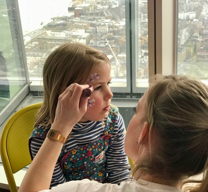 Facepainting the Shard