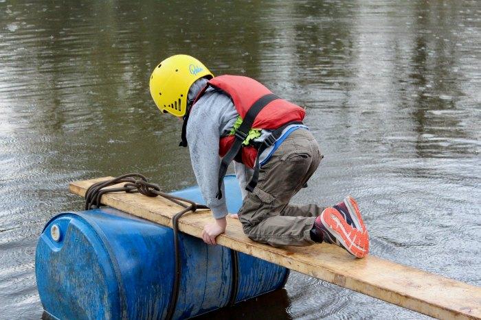 Isaac on a raft