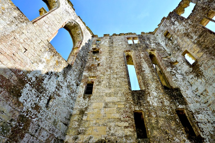 Looking up Old Wardour Castle