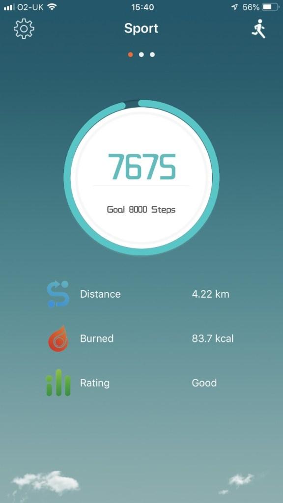 Exercise screenshot