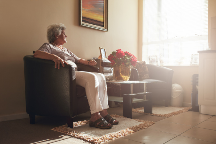 Elderly person at home