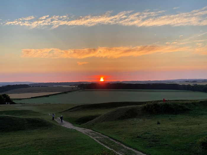 Sunset Badbury Rings