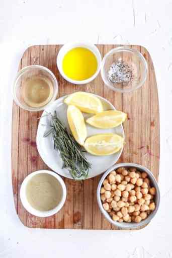 Ingredients for Rosemary Lemon Hummus