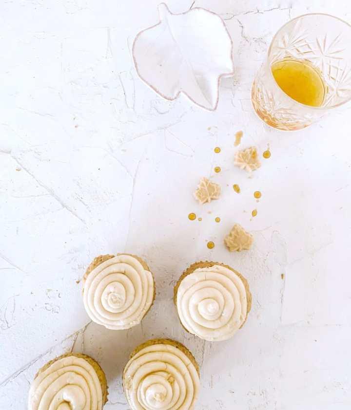Bourbon Maple Cupcake