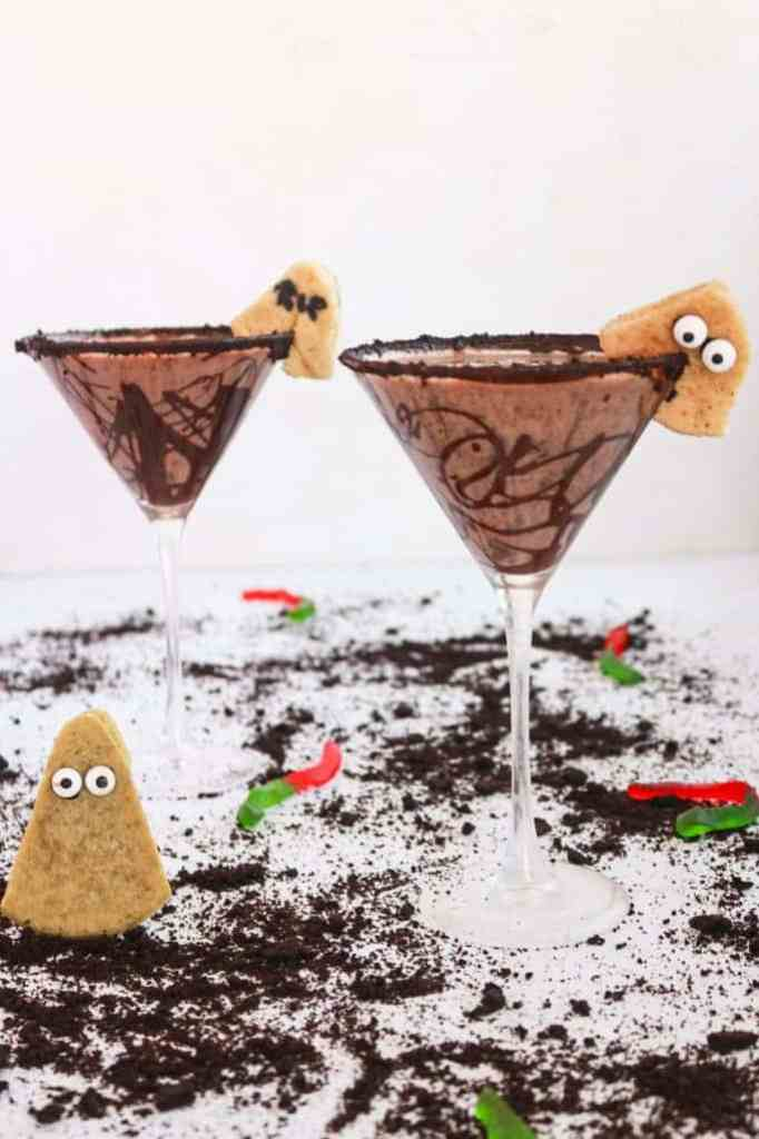 Drunk in the Graveyard Martini in two martinis