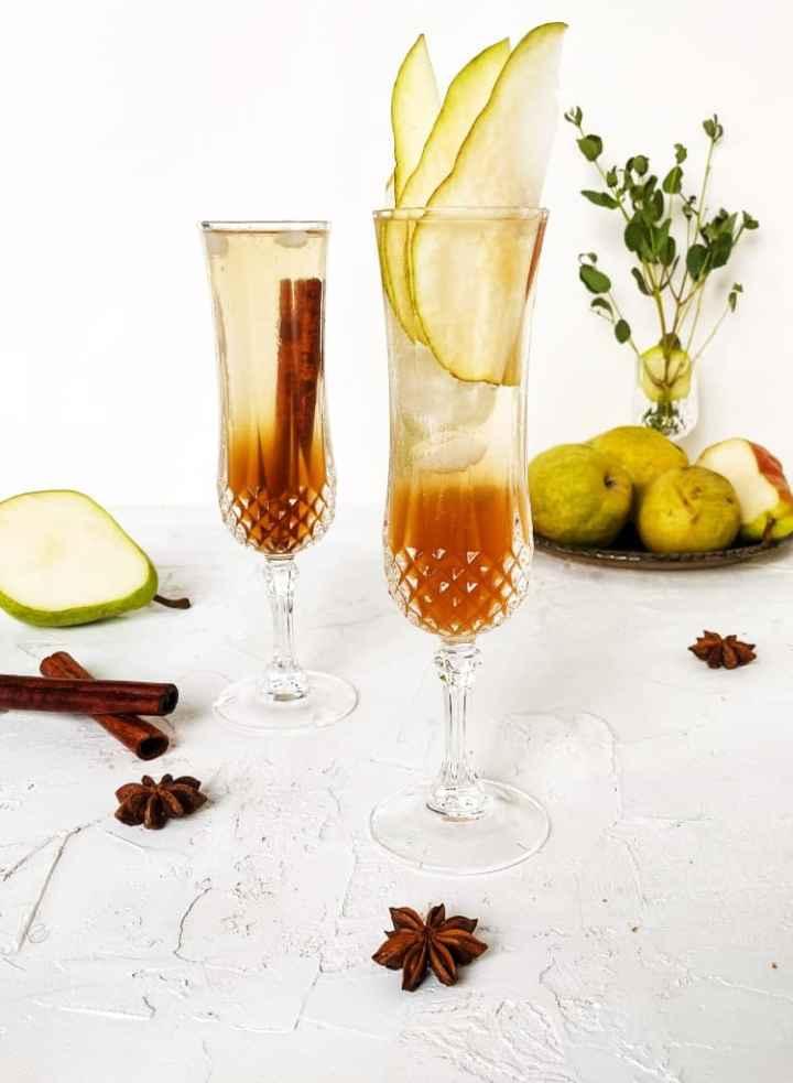 Two glasses Spiced Pear Prosecco