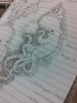 Octopus Sketchbook Drawing