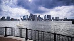 piers park boston skyline