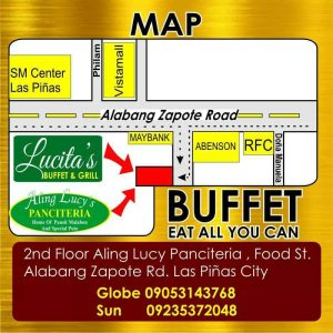 Find Lucitas Buffet and Grill and Aling Lucy's Panciteria and Restaurant