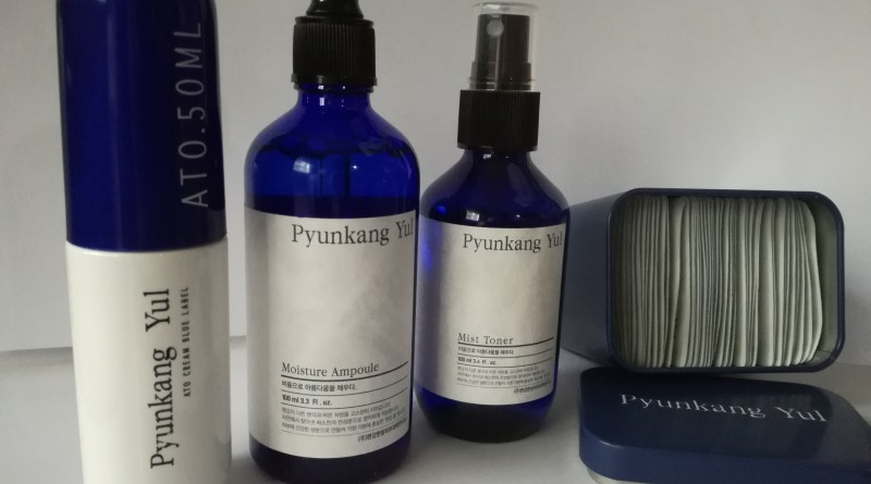 Pyunkang Yul set; (left to right) ATO Cream 50ml, Moisture Ampoule 100ml, Mist Toner 100ml, Eye Cream (1ml X 50ea)
