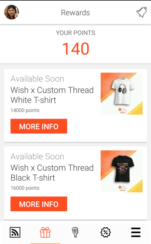Redeem Wish 107.5 and brand partner merchandise