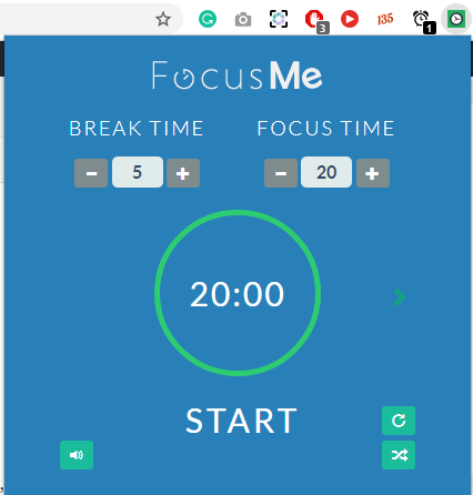 Focus Me - Set time