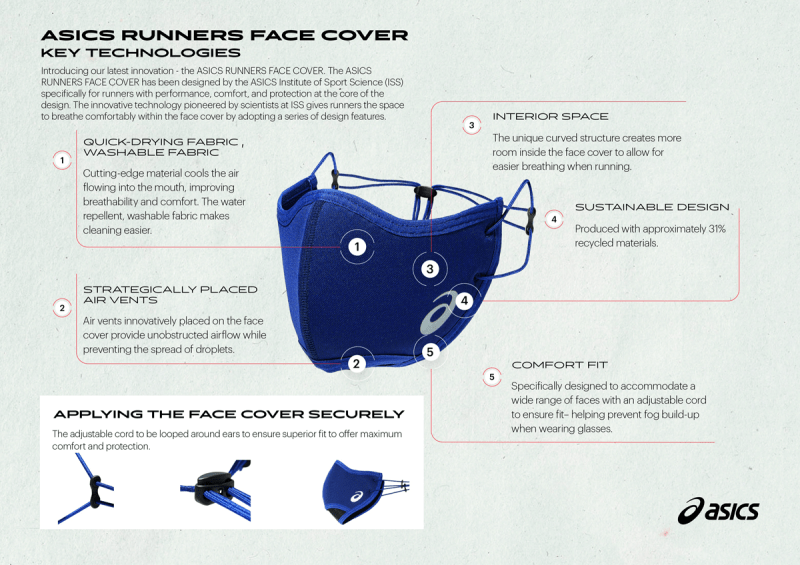 Asics Just Released a New Face Mask for Runners
