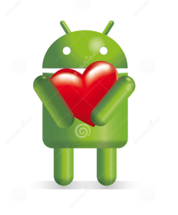 android with heart