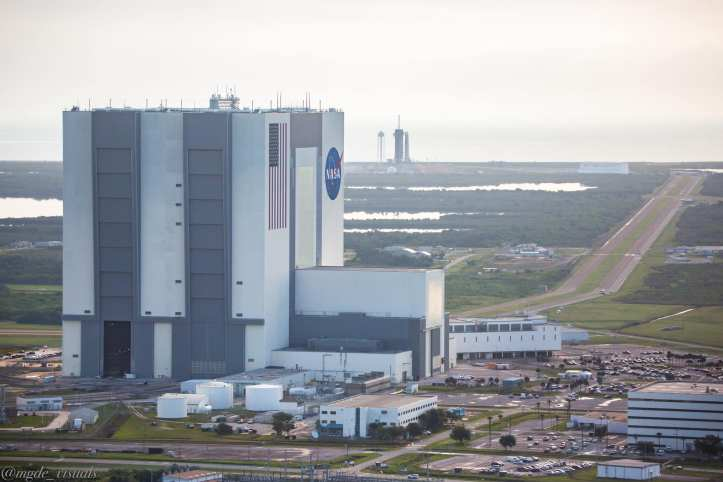 NASA Vehicle Assembly Building with Launch Pad 39A in the Background.