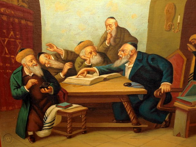 Five rabbis discuss the implementation of Jewish ritual and ethics described in the Talmud. Hopefully our source code is sufficiently unambiguous that we can write a program to interpret it rather than assembling five rabbis.