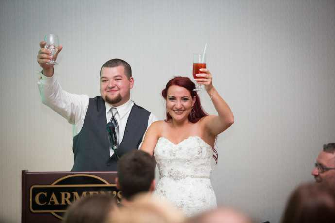 bride and groom wedding speech