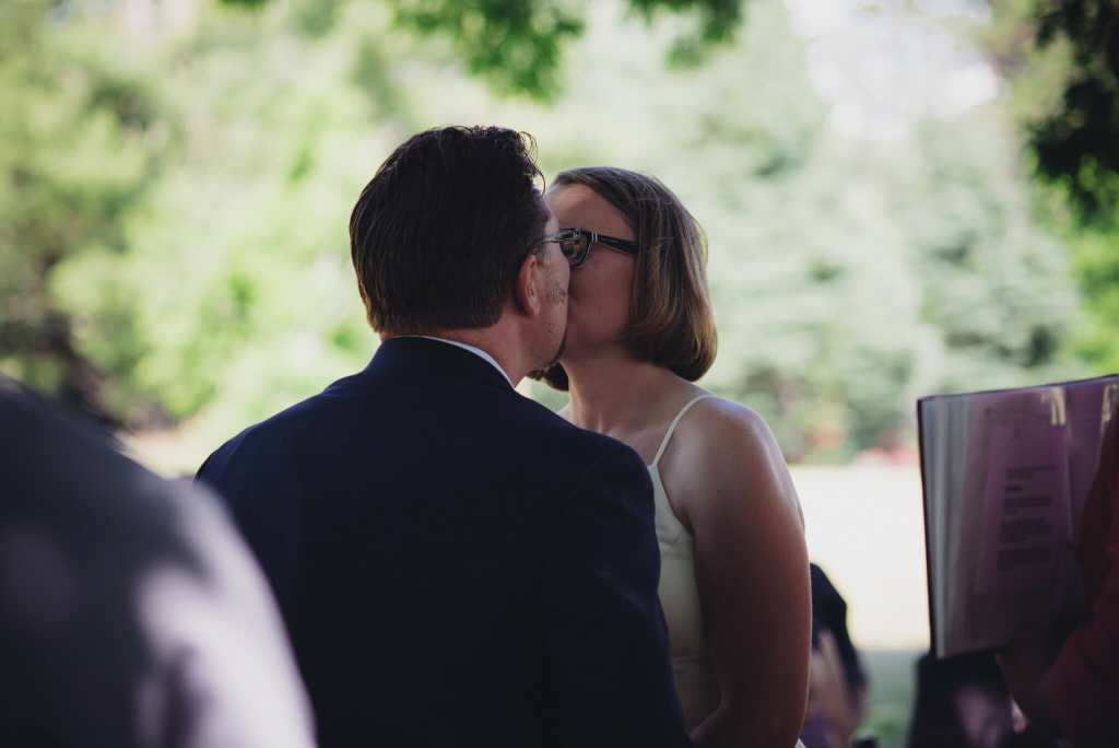 first kiss as husband and wife mansfield wedding photos