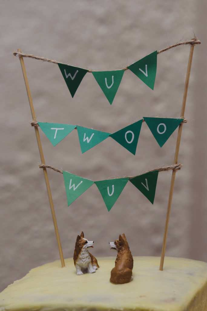 corgie wedding cake
