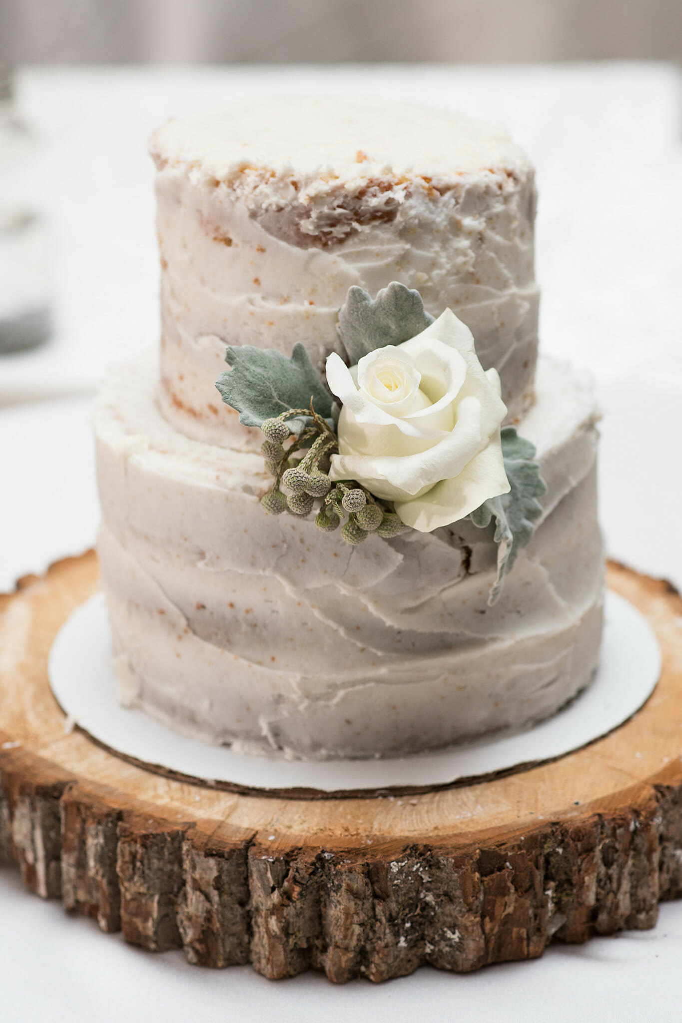 nature inspired naked cake