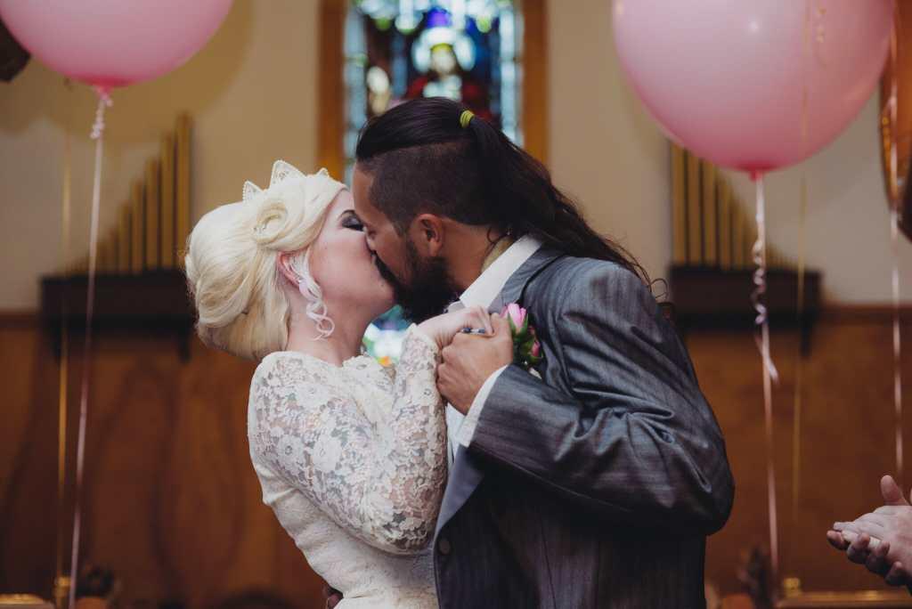 first kiss as husband and wife at kedron church oshawa