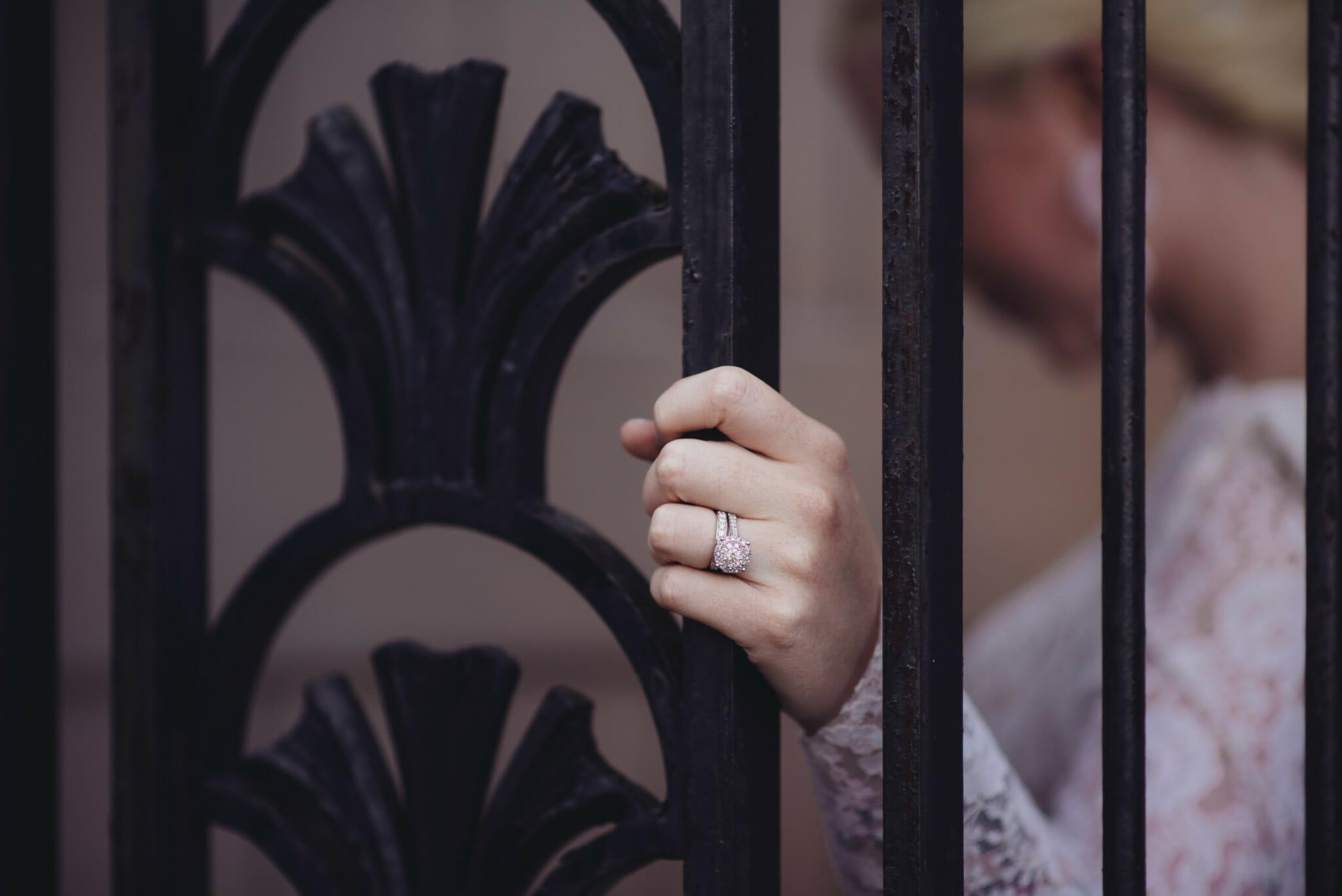wedding ring shot at parkwood