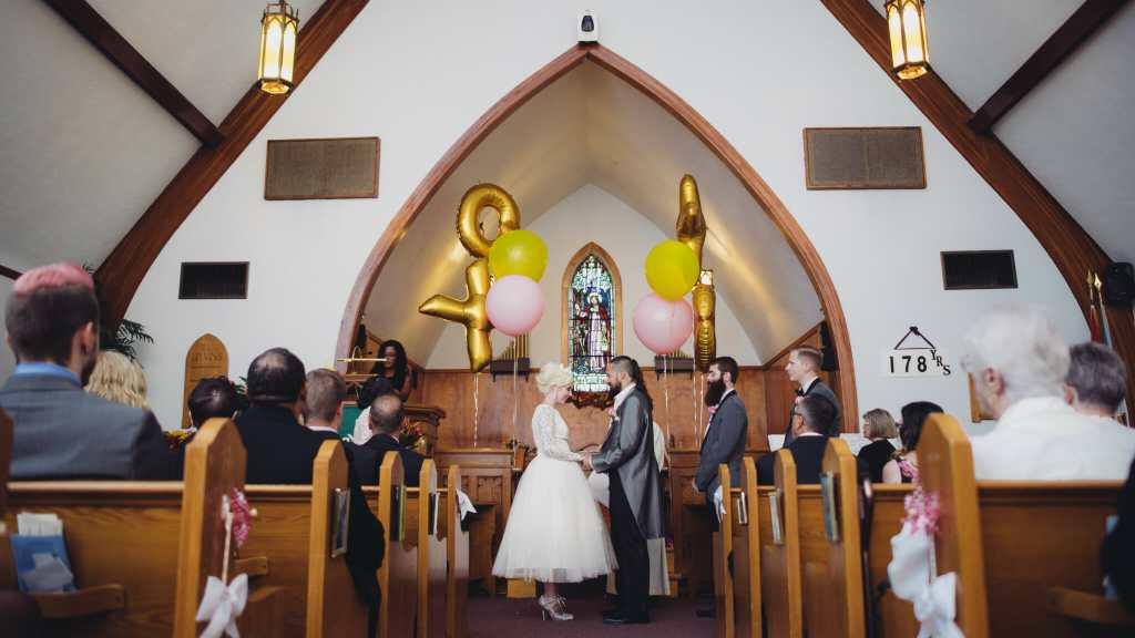 wedding ceremony at kedron united church oshawa