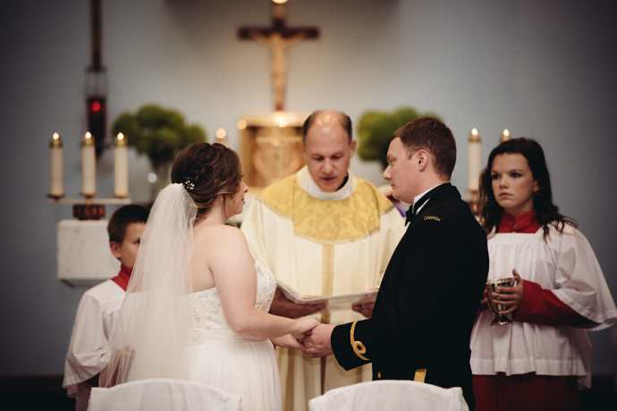 full mass ceremony at st leo church brooklin wedding