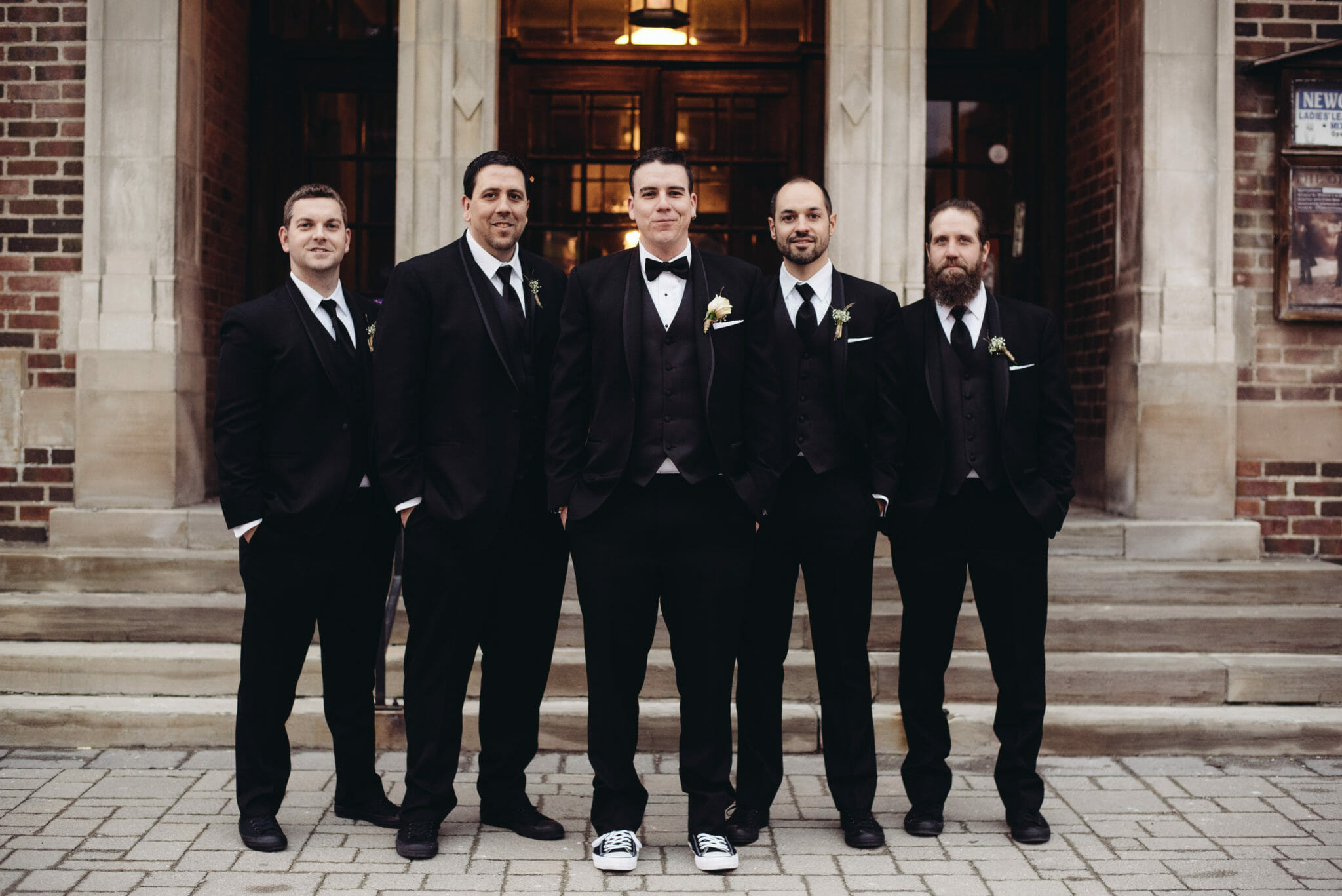 groomsmen photo at newcastle community hall