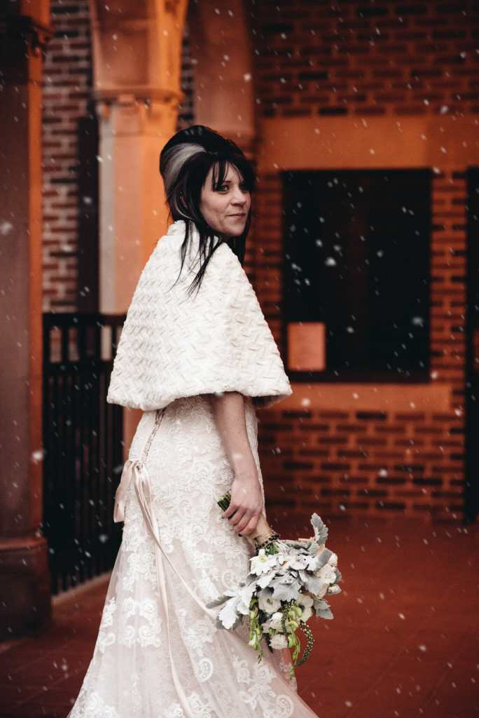 bride at newcastle community hall