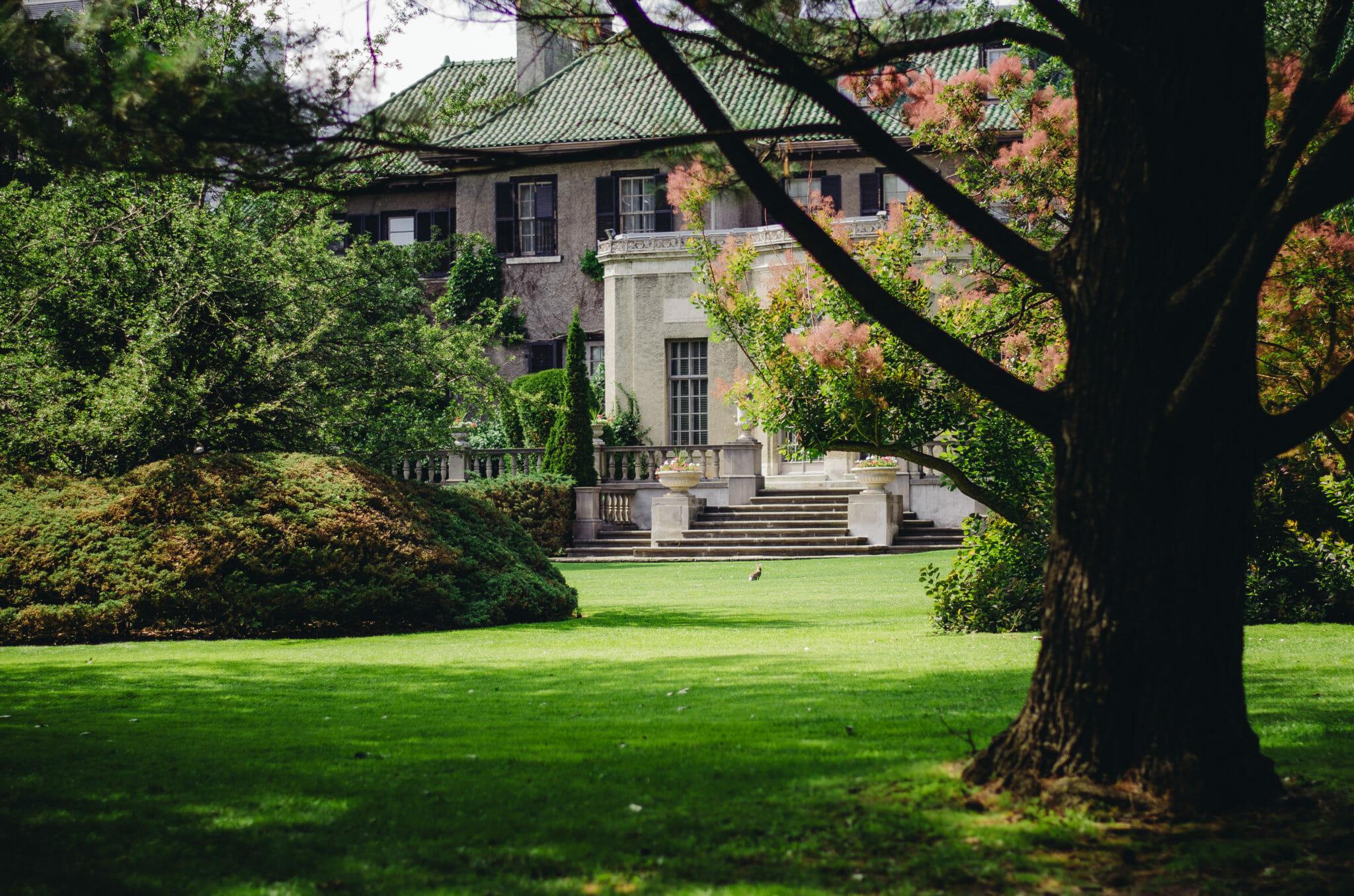 back garden of parkwood house oshawa