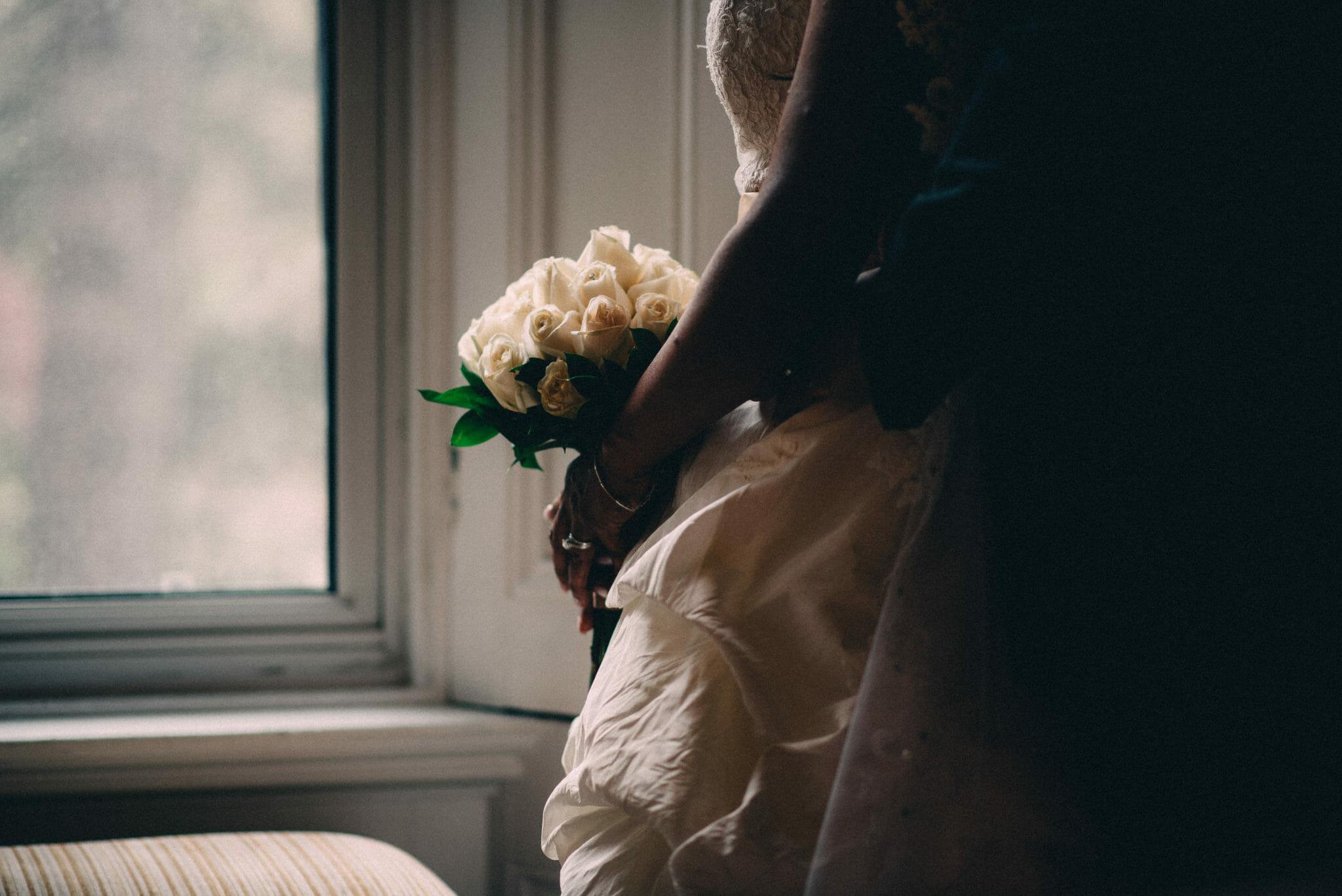 bridal bouquet at trafalgar castle wedding