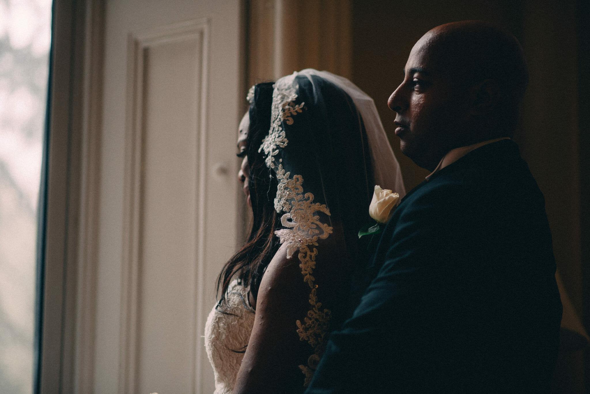 bride and groom portraits at trafalgar castle wedding