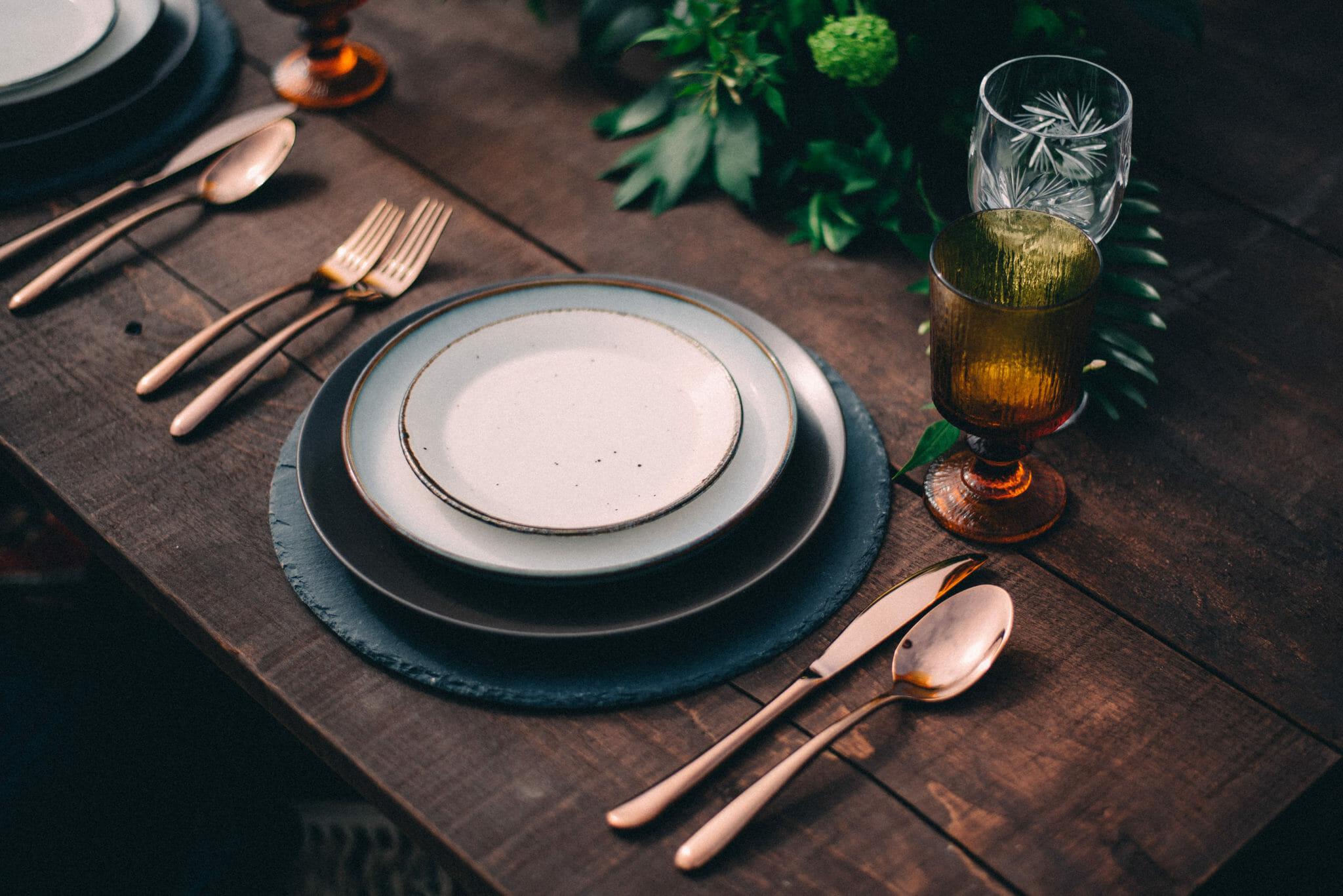 camp wedding tablescape
