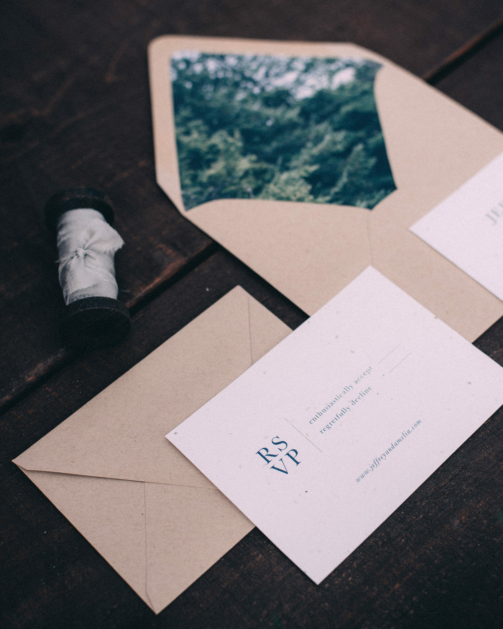 Stationary cards for bohemian wedding