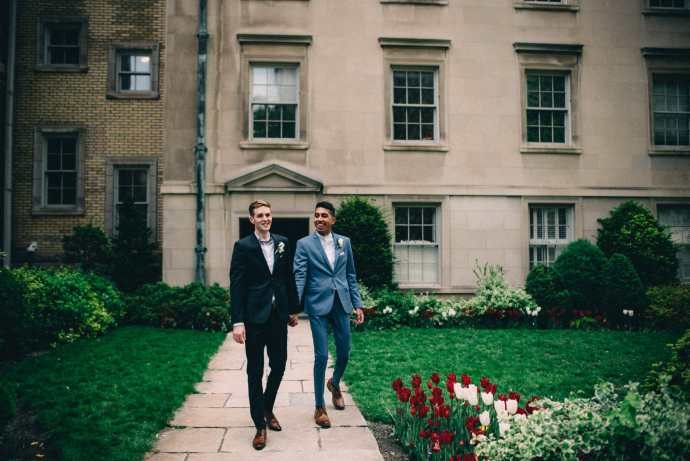 married couple walks in osgoode hall