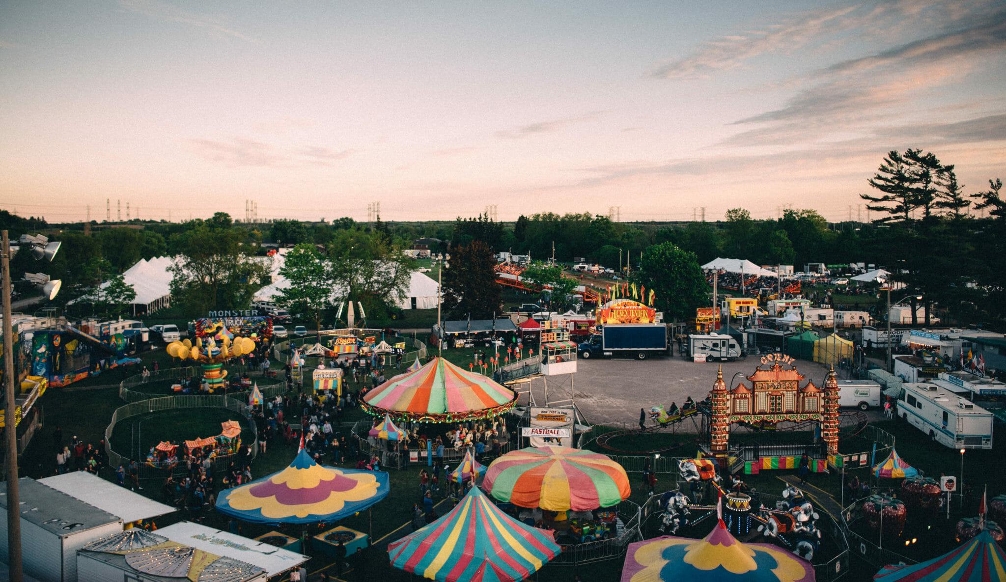 view over brooklin spring fair
