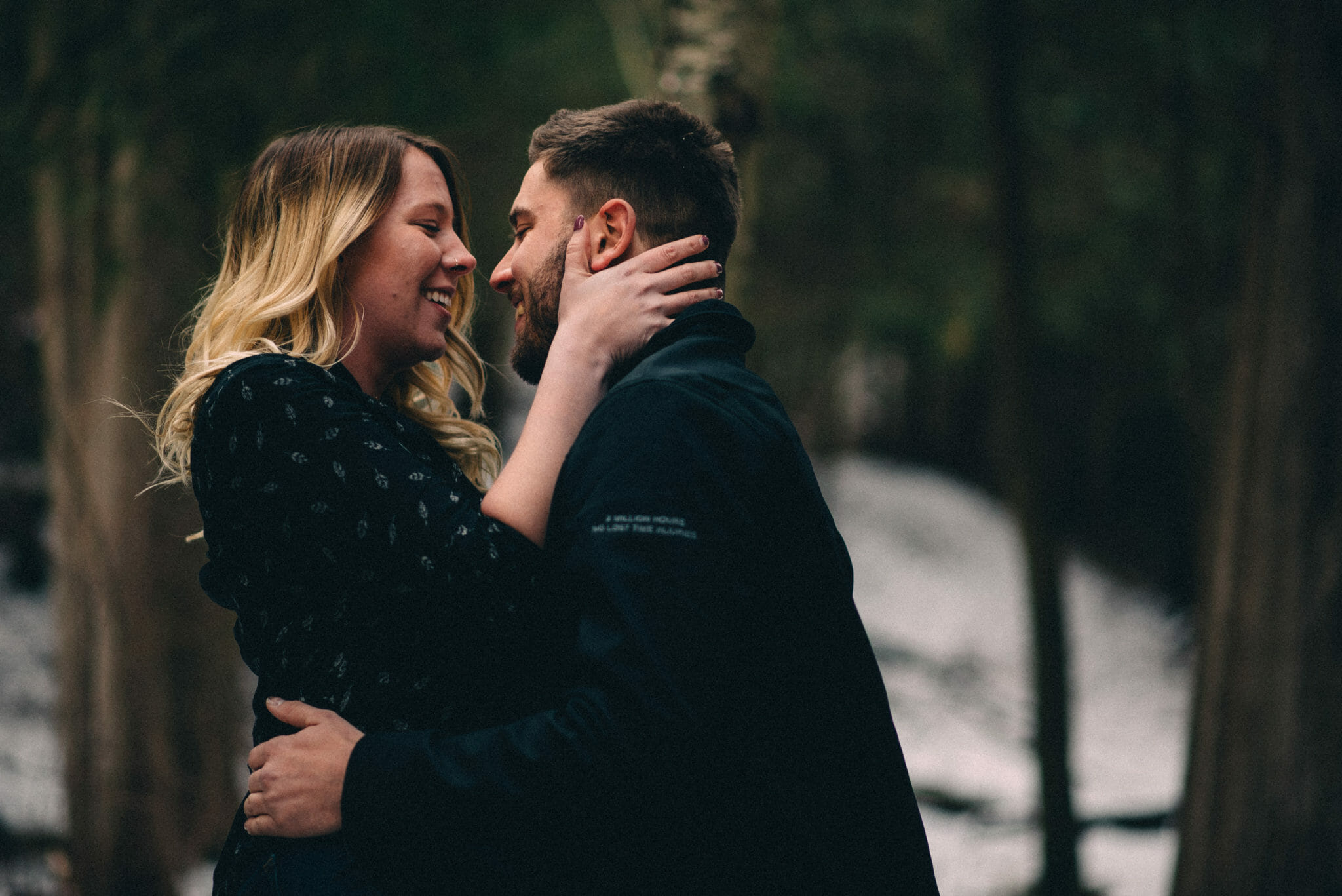 winter engagement photos heber down