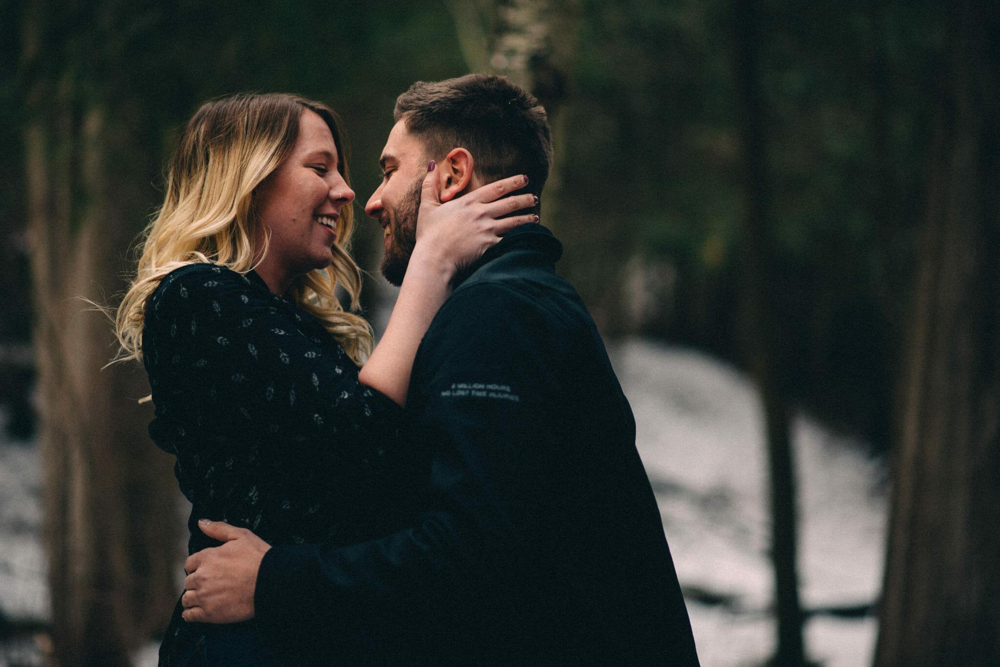 winter engagement photos heber down