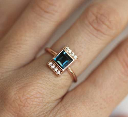 london blue topaz engagement ring by minimalvs